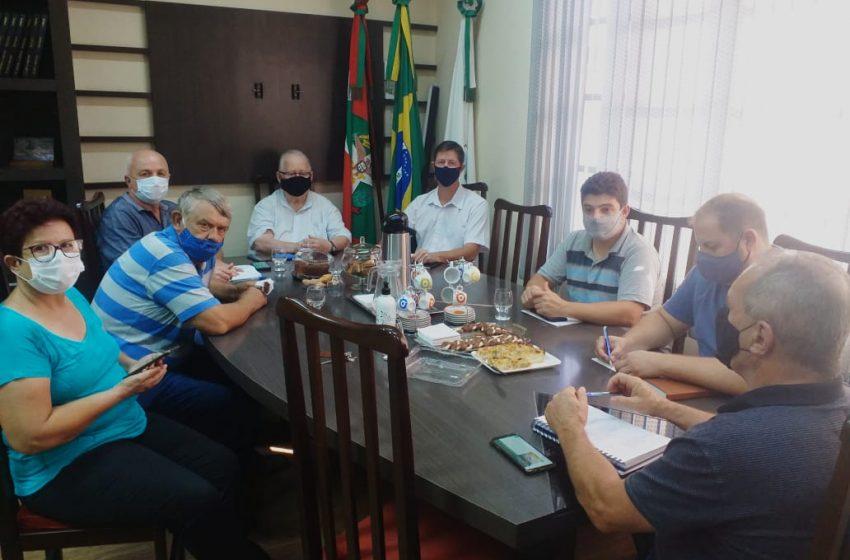 Prefeito de Corupá faz reunião com vereadores